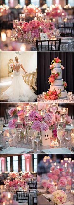Featured Photographer: Ira Lippke Studios; pink wedding reception ideas