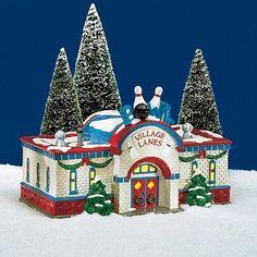 Dept 56 Snow Village® Bowling Alley BRAND NEW