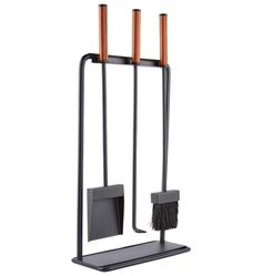 Gather round the glow of a cozy fire with our Modernist Tool Set. A Rejuvenation exclusive, it combines leather-wrapped and stitched handles with a sturdy iron design to offer sleek and sophisticated style to any fireplace or hearth. Fireplace Poker, Fireplace Tool Set, Fireplace Design, Fireplace Screens, Modern Fireplace, Fireplace Ideas, Porch Accessories, Fireplace Accessories, Victorian Lighting