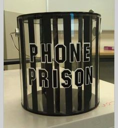 Phone prison for your classroom- haha!