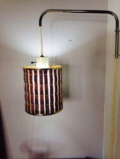 Hanging teak lamp