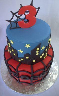 Spiderman Birthday Cake   by My Sweet Austin