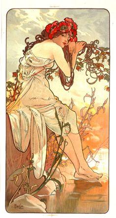 "Alphonse Mucha ""Summer"""