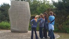 Guides looking at Brownsea Island scout stone © Vikki-Gridley-Haack London Travel, Scouting, Boy Scouts, Travel Ideas, England, Stone, History, Girls, Toddler Girls