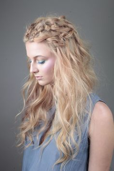 The ethereal blonde hair look by our ID Artist's, art directed by Brooks and Brooks, from L'Oréal Colour Trophy Regional Tour 2015.
