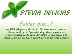 Stevia y FAO