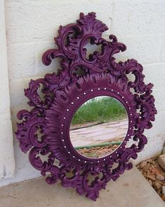 $5 mirrors and some mirror paint...so cute!  Possible idea to brighten up wall behind the couch!  Mount something like this to an outside structure to create the look of windows?