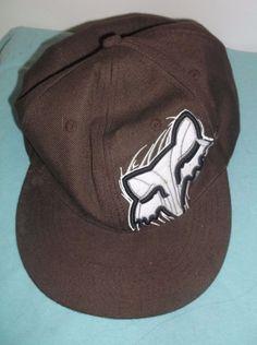 hot sale online 33da1 f13ef Fox Racing Ball Cap Brown Original 600M Size 8 100% Cotton Embroidered  Fox   BaseballCap