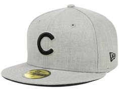 Chicago Cubs Heather Basic 59Fifty FItted Cap by NEW ERA x MLB