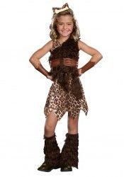 Junior's Cave Cutie Girl Costume