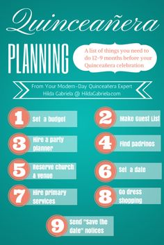 Quinceanera Planning Timeline Guide | Party Ideas By ...