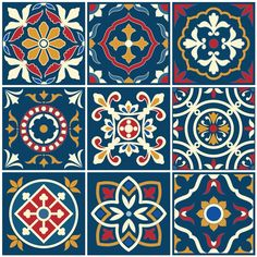 Tile Patterns, Pattern Art, Textures Patterns, Print Patterns, Pattern Design, Tile Art, Tiles, Motif Arabesque, Decoupage Printables