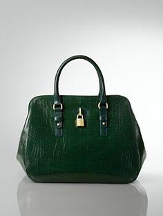 ALTERNATE VIEWS:  LOOKS  Croc-Embossed Leather Doctor Bag