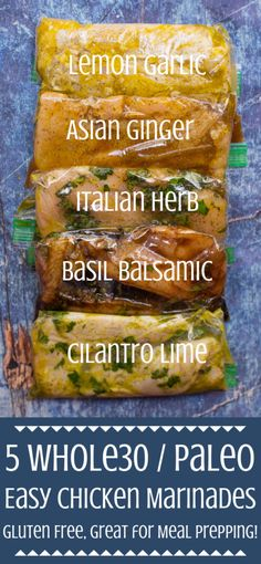 Say no to boring chicken with these 5 Healthy Chicken Marinades Made with minimal ingredients paleo keto and - they re perfect for meal prepping mealprep paleo healthy chicken healthyrecipes keto Healthy Meal Prep, Healthy Drinks, Healthy Recipes, Eating Healthy, Healthy Cooking, Drink Recipes, Healthy Eats, Nutrition Drinks, Paleo Meals