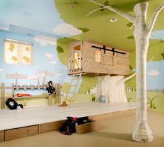 Auch eine tolle Idee: das Baumhaus im Kinderzimmer, ultimativer Spielspaß!!!