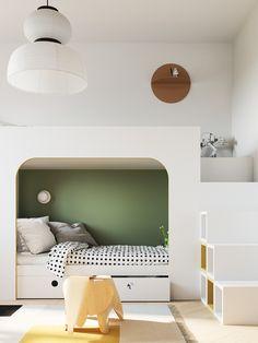 Project in moscow, 79 Kids Bed Design, Deco Kids, Earthy Color Palette, Deco Design, Minimalist Interior, Kid Beds, Boy Room, Kids Furniture, Kids Bedroom