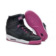 Shoes Nike Black Wms Air Revolu Hi Rose Carmine
