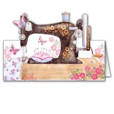 Sewing Machine - greetings cards for women from Phoenix Trading £1.75 each or £1.40 when buying 10 or more.