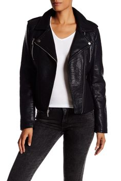 Textured Faux Leather Jacket by French Connection on @nordstrom_rack