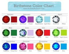 Finding a beautiful birthstone color chart with reliable information is a real trick. Finally, I made my own. Click here for charts on birthstones by month, day, and season.