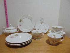 13 Piece Vintage J. Tea Cup Saucer, Tea Cups, Dish Sets, China Dinnerware, Bavaria, Pottery, Sugar, Plates, Snacks