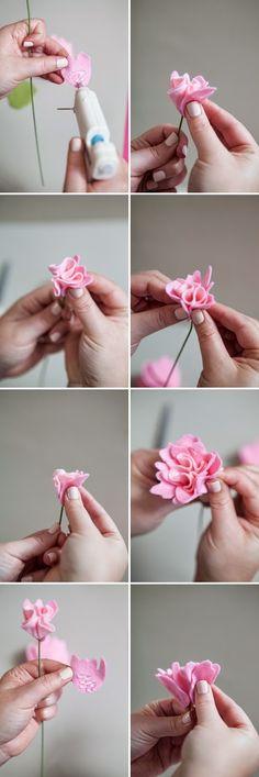 Manualidades y decoracion: Como hacer rosas de fieltro.