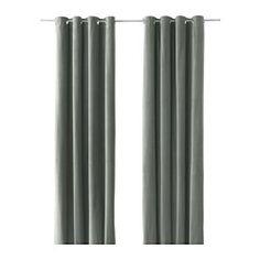 SANELA rideaux, 1 paire, gris vert Longueur: 300 cm Largeur: 140 cm Poids: 2.60 kg