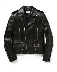 Saint Laurent Slim-Fit Leather Biker Jacket  Hedi Slimane is a master at taking menswear we thought we knew and making it better. A perfect case in point is his biker jacket for Saint Laurent that takes a classic piece of American outerwear, and all the imagery that it conjures up from riding to rock and roll, and turns it into the ultimate luxury leather piece.   $4,900, available at Mr Porter.com