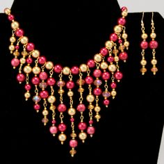 Red Gold Glass Pearl Bead Weaving Egyptian