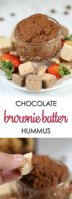 This easy Brownie Batter Hummus recipe is a sweet, chocolate twist on a classic dip.It takes only 5 minutes to make with a few simple ingredients.  My secret ingredient really kicks up the chocolate flavor!  (ad) #LoackerLove #chocolate #EasyDip