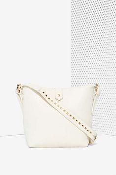 White Noise Studded Vegan Leather Bag - Bags + Backpacks | Newly Added | Bags + Backpacks