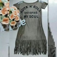 Vestido Suede Camurça Com Franjas Moda Blogueiras - R$ 65,00