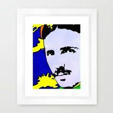 Nikola Tesla Art Print By Jossart Framed Art Print www.jossart.com