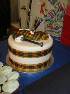Brave Bagpipes Birthday Cake
