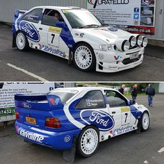 "WRC | RALLY on Instagram: ""Ford Escort RS Cosworth🔥 •…"" Ford Sport, Ford Rs, Car Ford, Gt Cars, Race Cars, Rallye Wrc, Subaru Rally, Rally Raid, Ford Sierra"
