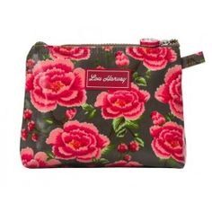 Lou Harvey small cosmetic bag vinyl-covered in Alexandra Donkey design, great for #summer #beachbags #waterproof