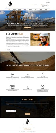 Website Design for Black Mountain Sand in Fort Worth Texas