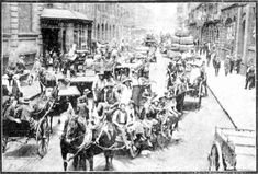 Snapshots of Street Scenes in Sydney Following the Official News of the Armistice - November 1918 - York-street, Sydney