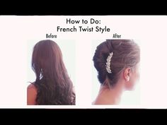 SoHo Fashion - French Twist Style With Hair Combs - YouTube
