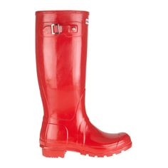 Gummistiefel Hunter original gloss rot, €130.