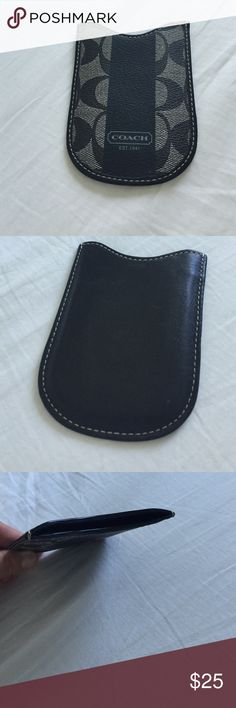 Coach phone pocket 100% genuine leather coach pocket for phone Coach Accessories