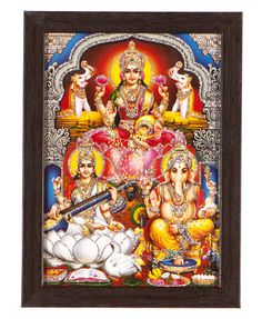 Ganesha Lakshmi photo  This is the photo of  Lord Ganesha and Goddesses Lakshmi. Ganesh indicate God of Beginnings, Lakshmi indicate wealth and health. Laxmi Ganesh Puja and Yajna is done for seeking blessings of Lord Ganesha.  http://www.godsutra.com/categories/god-pictures?cat=ganesha-lakshmi  For More Information Visit Here - http://www.godsutra.com/ Contact Us: 9899777806