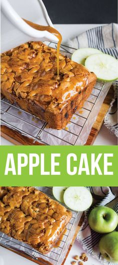 Apple Cake - make this apple cake recipe and you'll fall in love with it. Perfect for fall! www.thirtyhandmadedays.com
