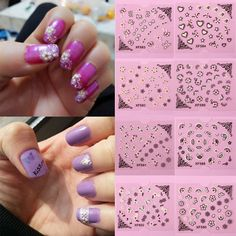 3D White Black Butterfly Flowers Nail Art Stickers Decals