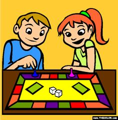board game coloring page