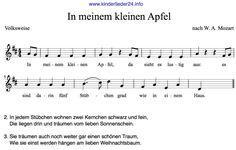 Texte Kinderlieder Herbstlied Apfel Sheet Music, Crafts For Kids, Religion, Songs, Lettering, Education, School, Blog, Musica