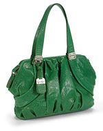 green purse. i like green.