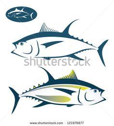 Tuna fish - vector illustration - stock vector Tuna Fish Logo Design