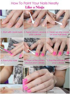 How To Paint Your Nails Neatly Like A Ninja, Helen Helz Nguyen