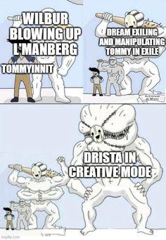 Minecraft Funny, Minecraft Fan Art, Youtubers, Dream Friends, Just Dream, Dream Art, Stupid Funny, Dream Team, Funny Comics